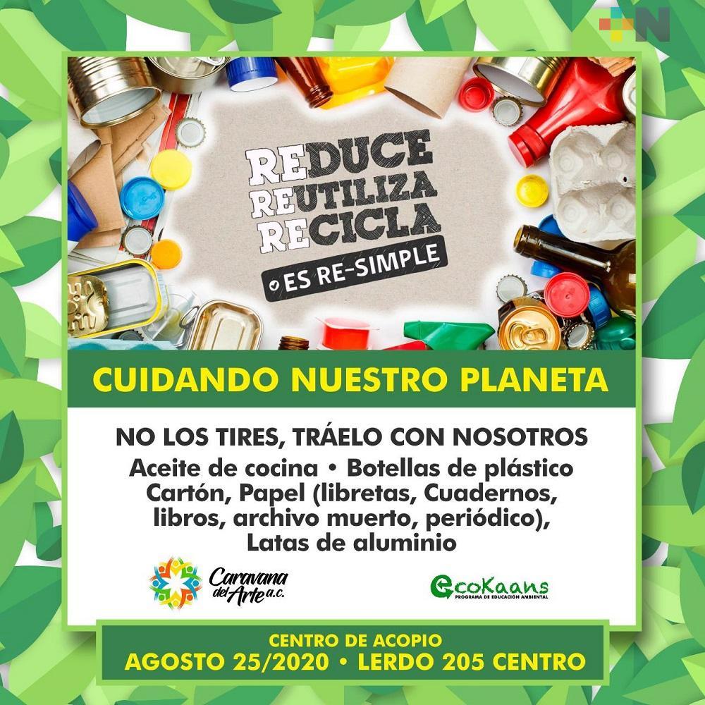 En Coatzacoalcos, asociación Ecokaans realizará reciclatón