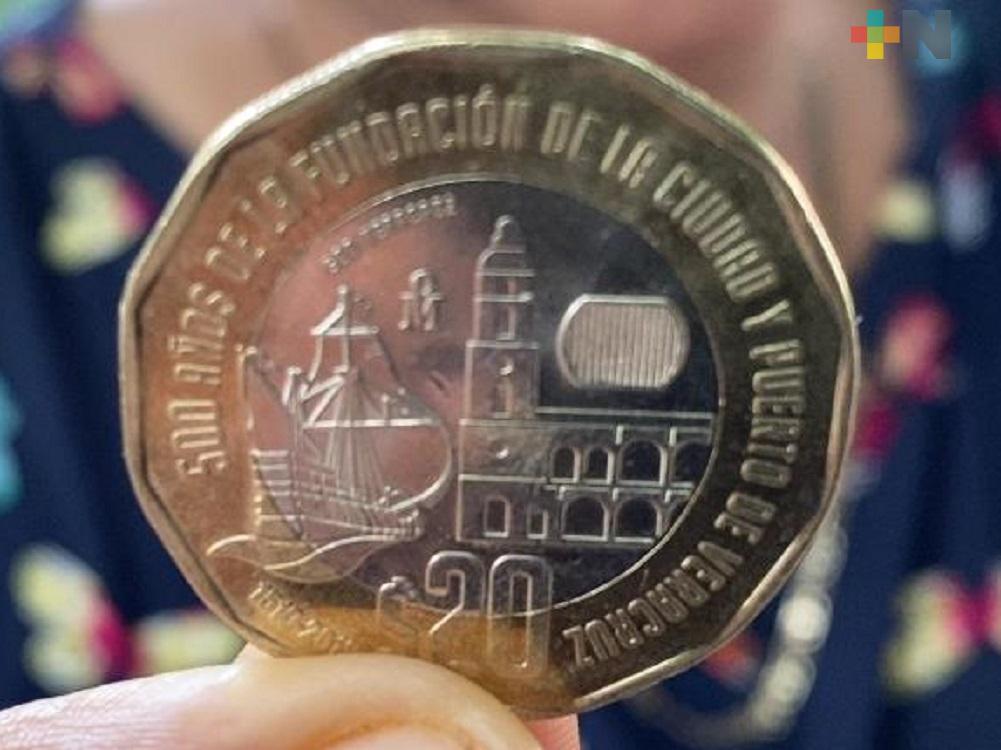 Moneda conmemorativa de la fundación de Veracruz ya circula en Coatzacoalcos