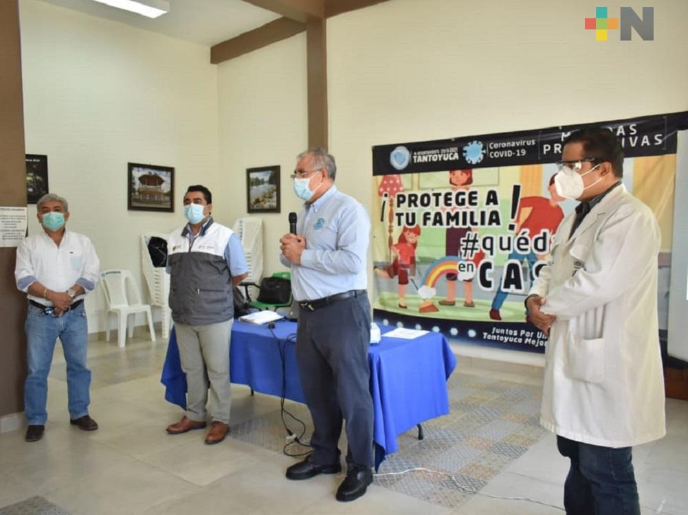 En Tantoyuca, autoridades de salud recomiendan a pacientes no automedicarse al padecer COVID-19