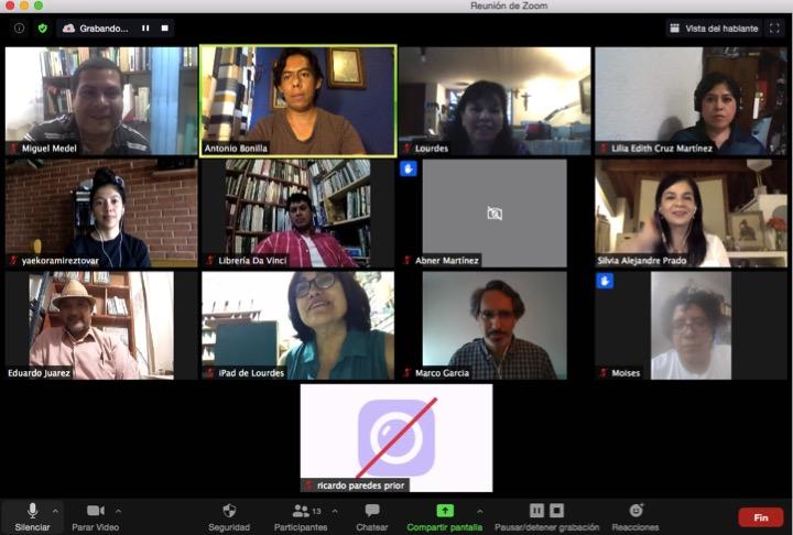 Realiza IVEC reunión virtual con libreros veracruzanos