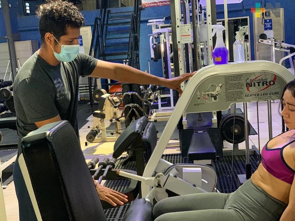 Gimnasios privados de Coatzacoalcos han reforzado medidas sanitarias