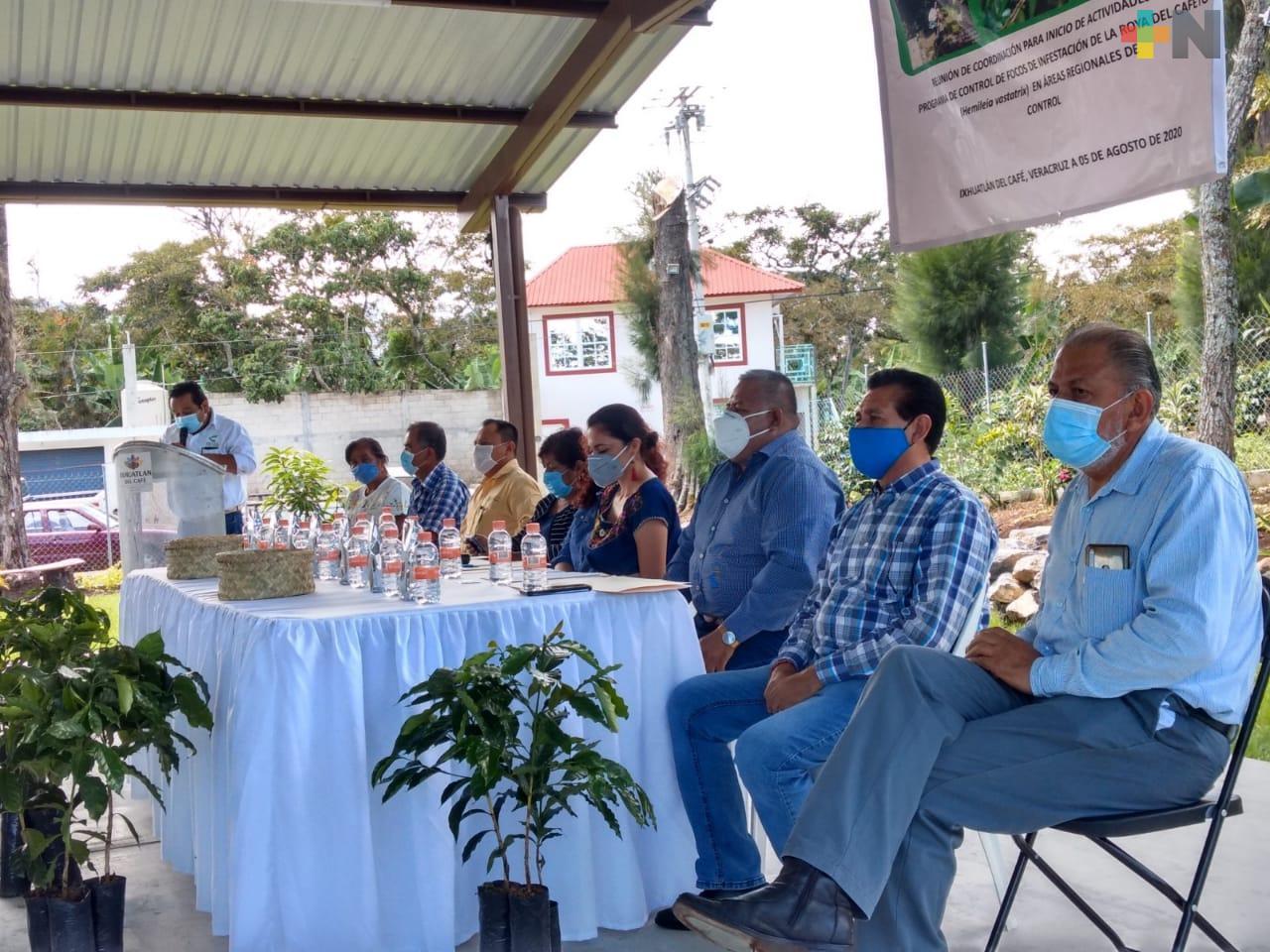Productores de café reciben insumos para abatir plagas