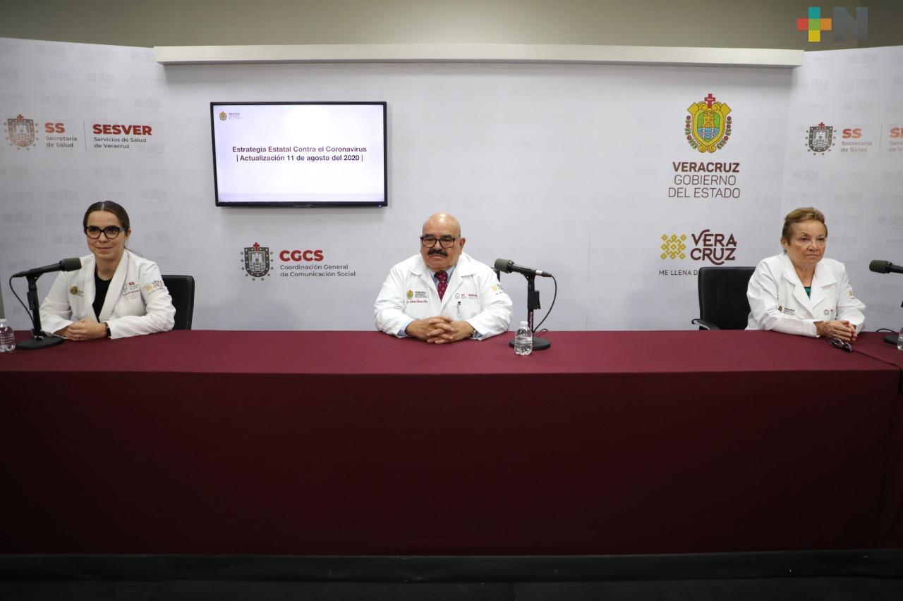 Hay 402 casos nuevos de Covid-19 en Veracruz