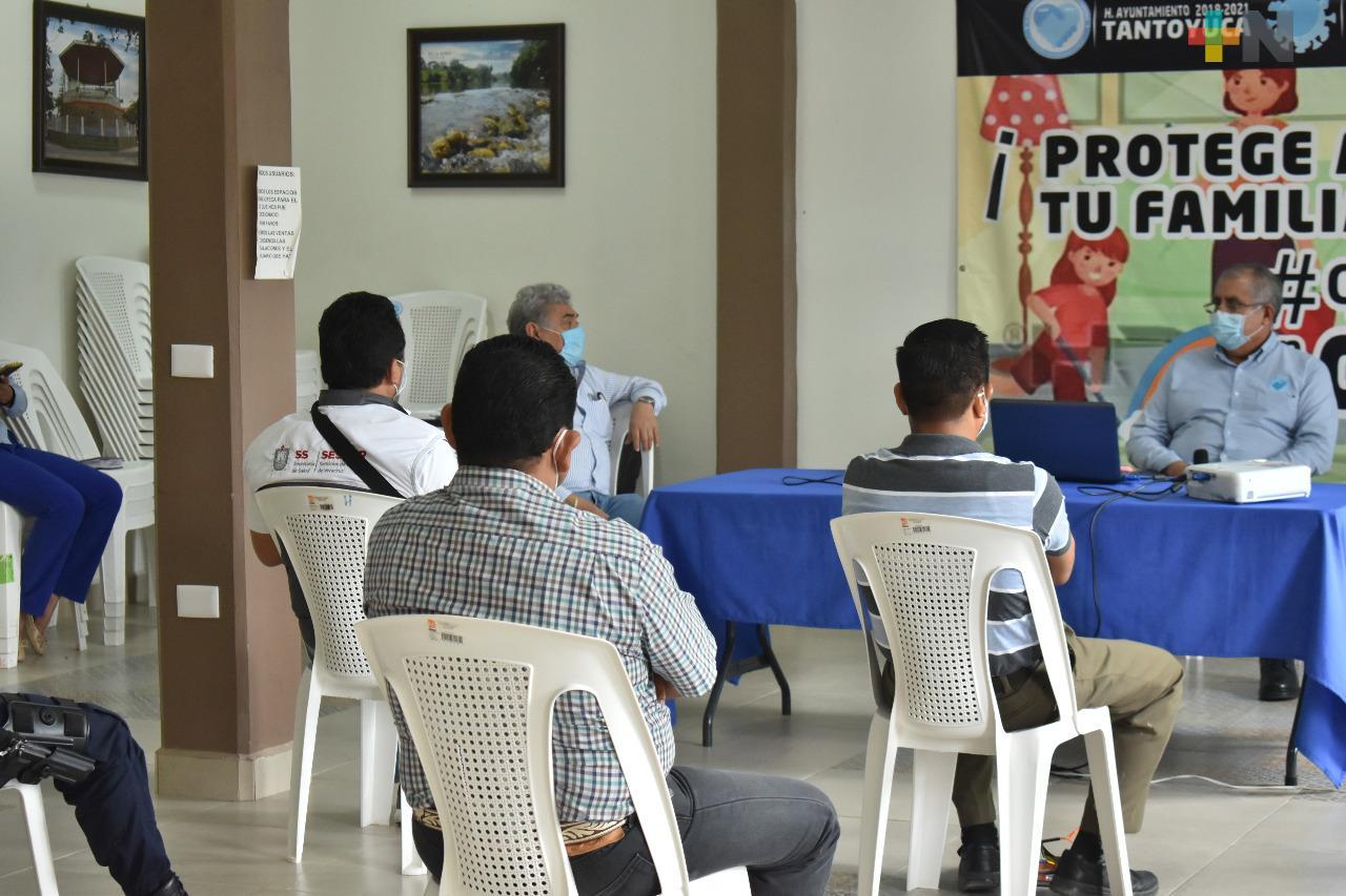Refuerzan medidas sanitarias ante aumento de casos de Covid-19 en Tantoyuca