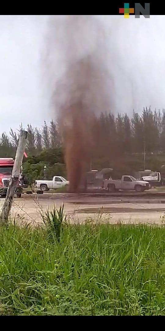 Controló Pemex fuga de crudo en Agua Dulce