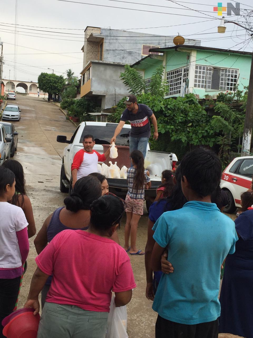 Ganaderos apoyan a damnificados en Jesús Carranza