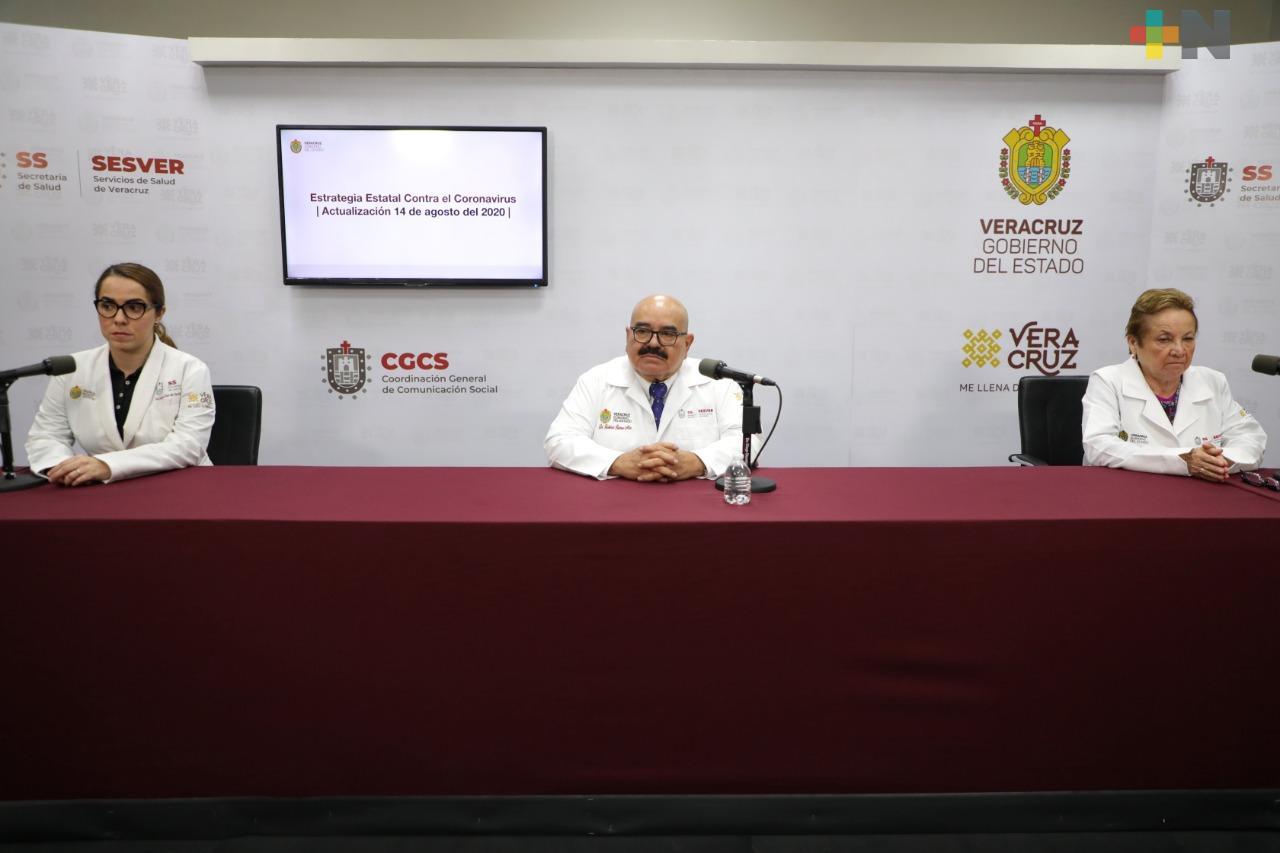 Hay 110 nuevos casos de Covid-19 en Veracruz