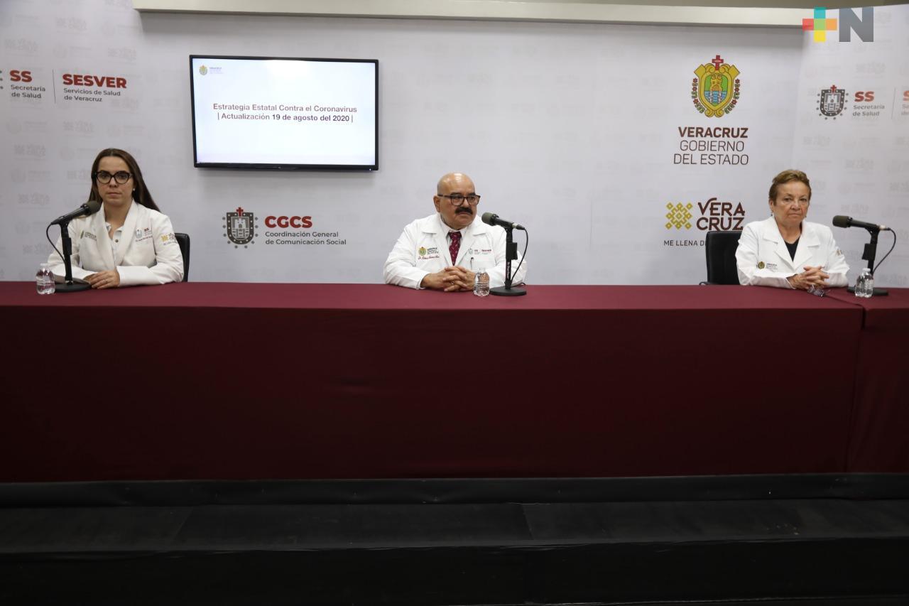 Hay 114 casos nuevos de Covid-19 en Veracruz