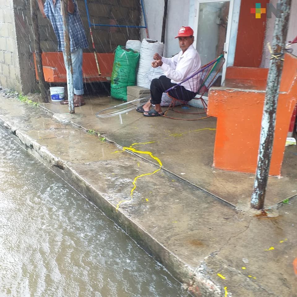 Inundaciones en 5 colonias de Veracruz