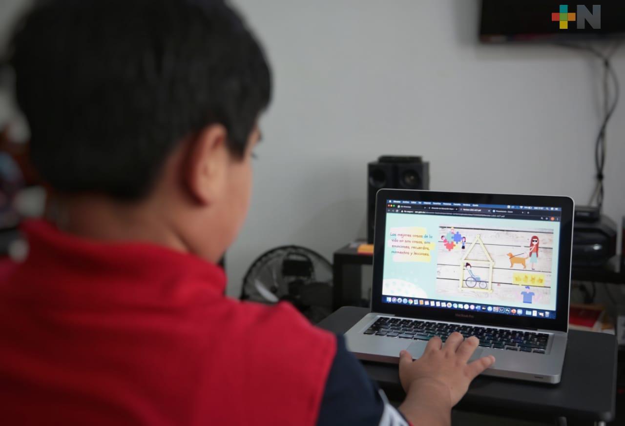 Ofrece SEV contenidos a distancia para Educación Especial