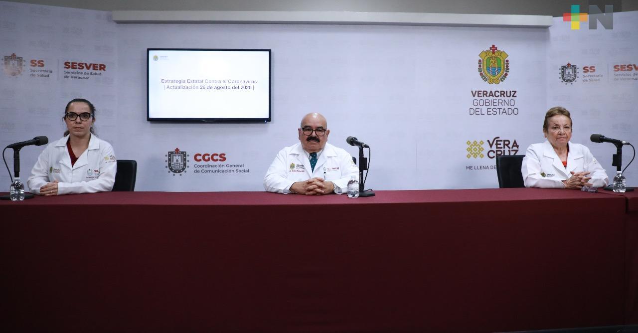 Se registran 148 nuevos casos de Covid-19 en Veracruz