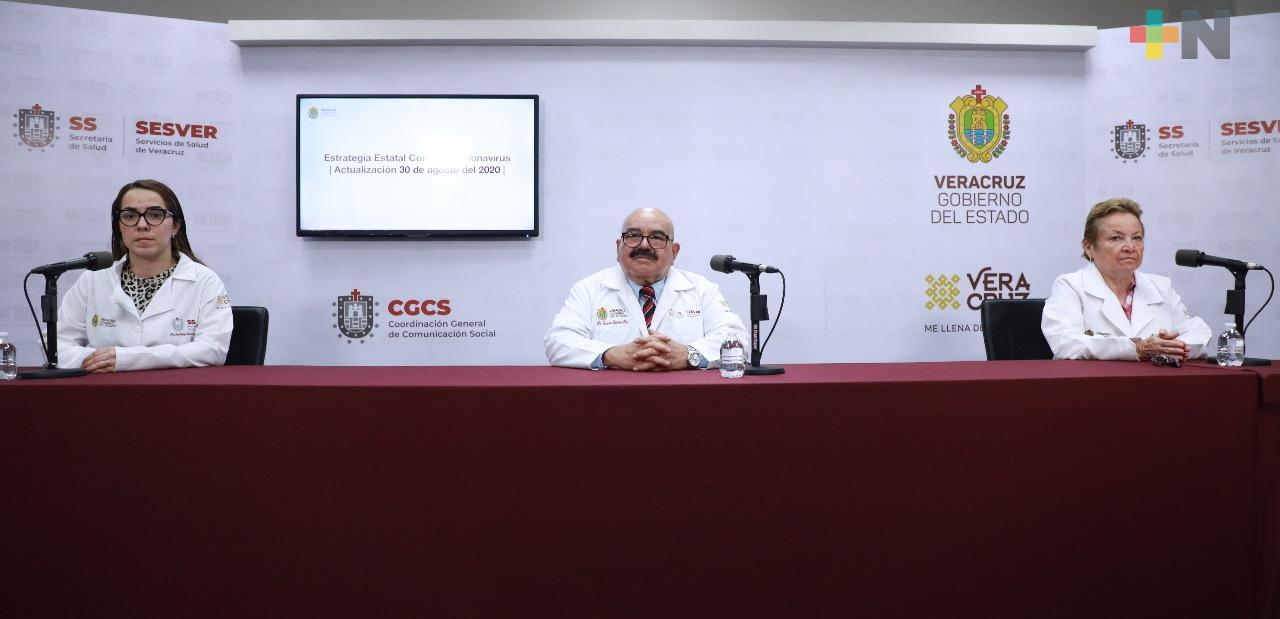 Ascienden a 28 mil 173 los casos de Covid-19, en 202 municipios de Veracruz