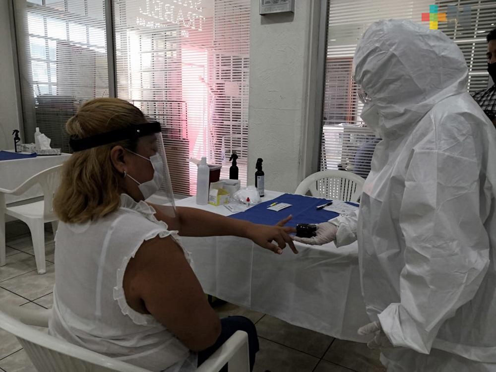 Inició en el puerto de Veracruz «Jornada de pruebas rápidas para la detección de COVID-19»