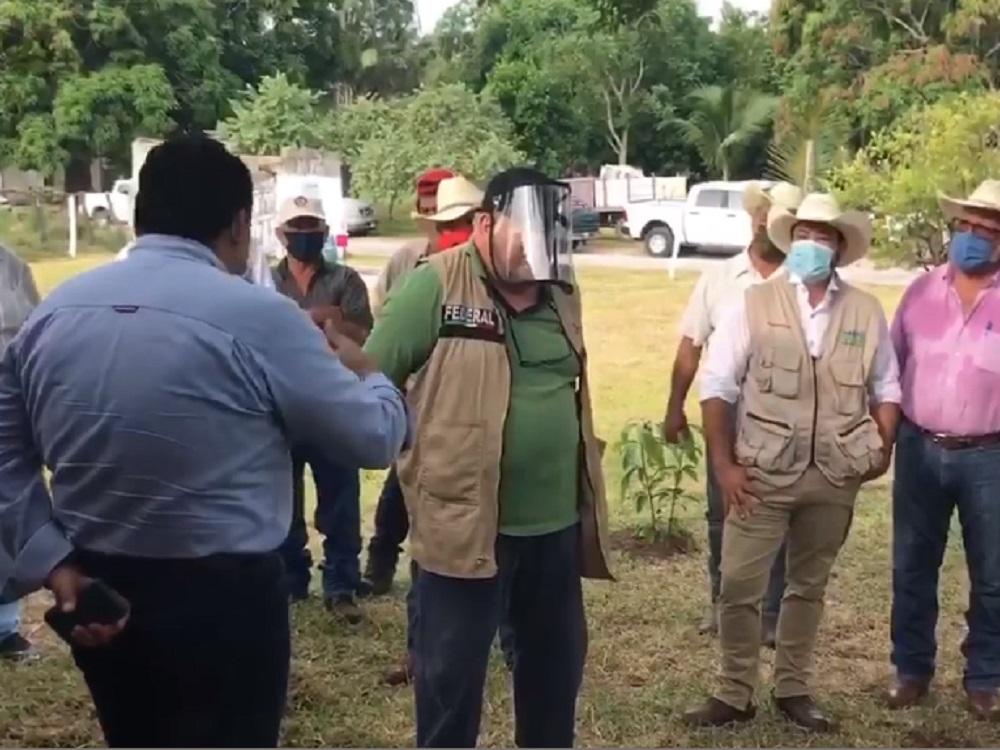 Manuel Huerta supervisa programa Sembrando Vida en Tampico Alto