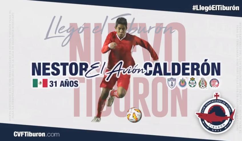 """Néstor """"El Avión"""" Calderón refuerza al CVF Tiburón"""