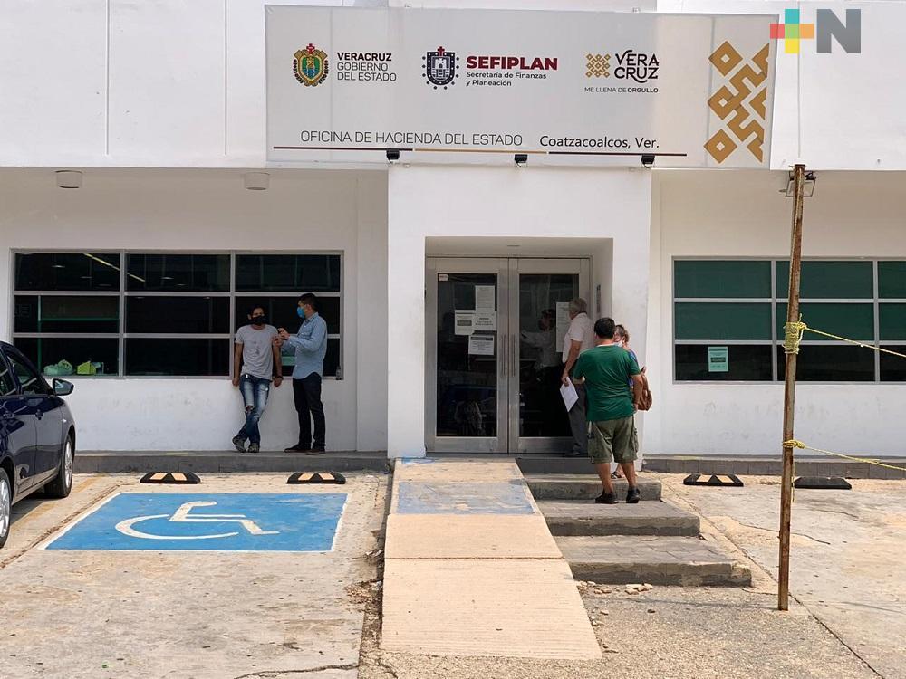 No hay desabasto de placas en Oficina de Hacienda de  Coatzacoalcos