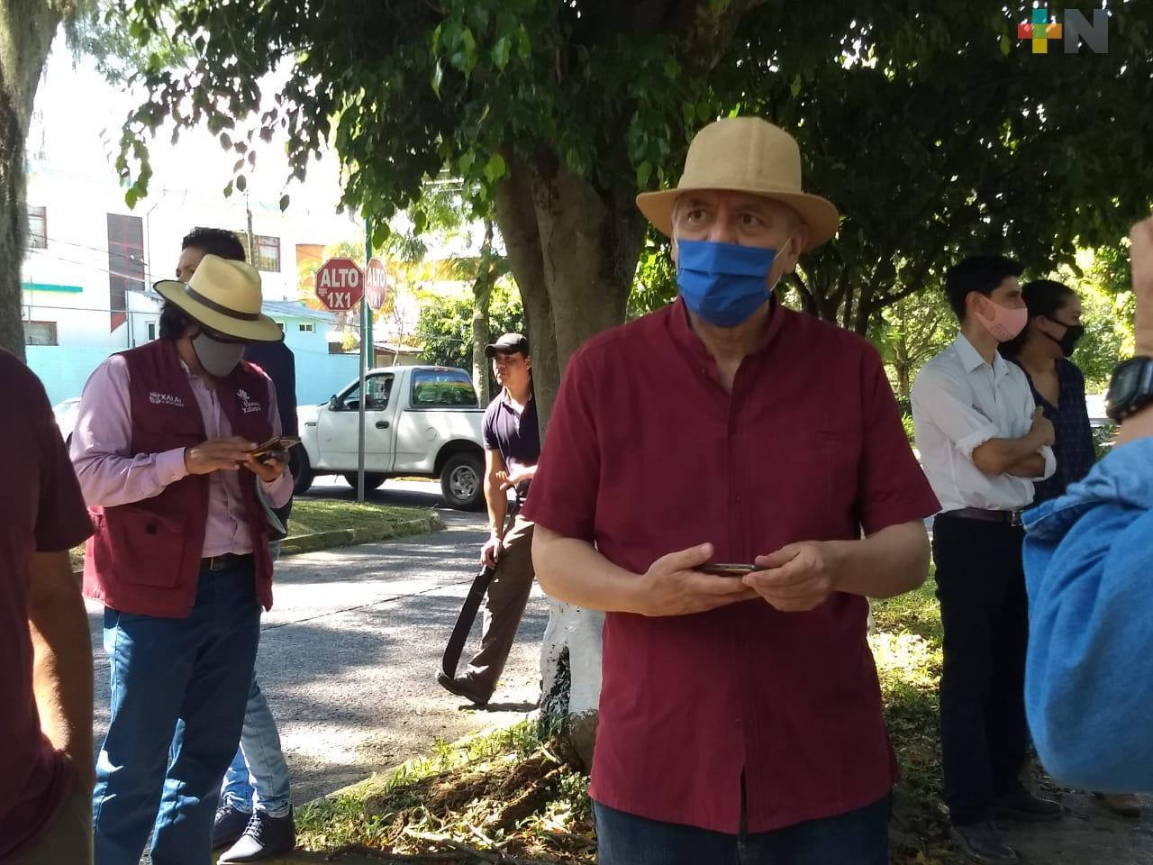 Alcalde de Xalapa agradece a Gobierno del Estado dar mantenimiento a áreas verdes