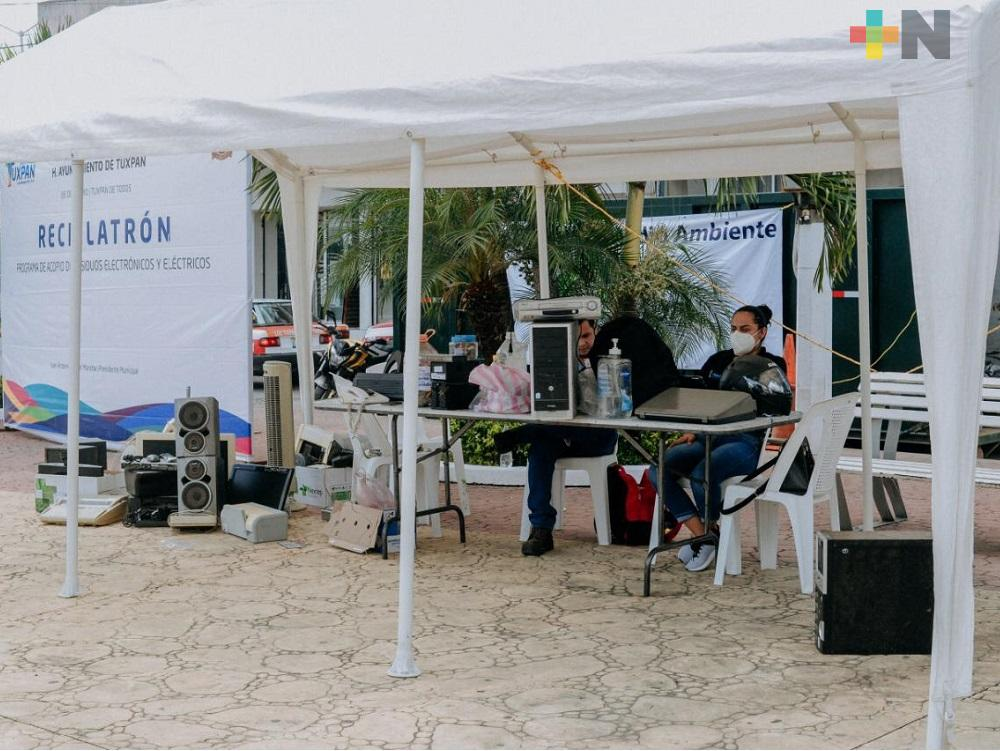 Resultados favorables en el acopio de basura electrónica en Tuxpan