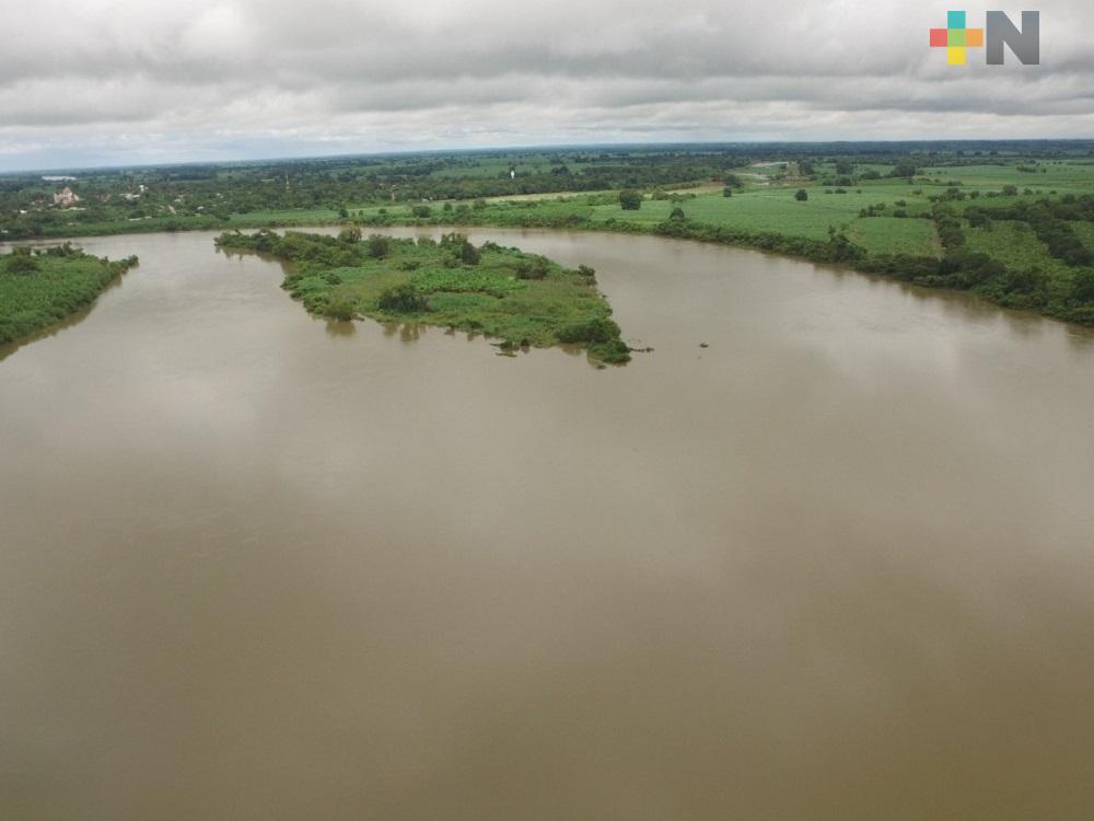 PC vigilia río Papaloapan por crecimiento del nivel de sus aguas