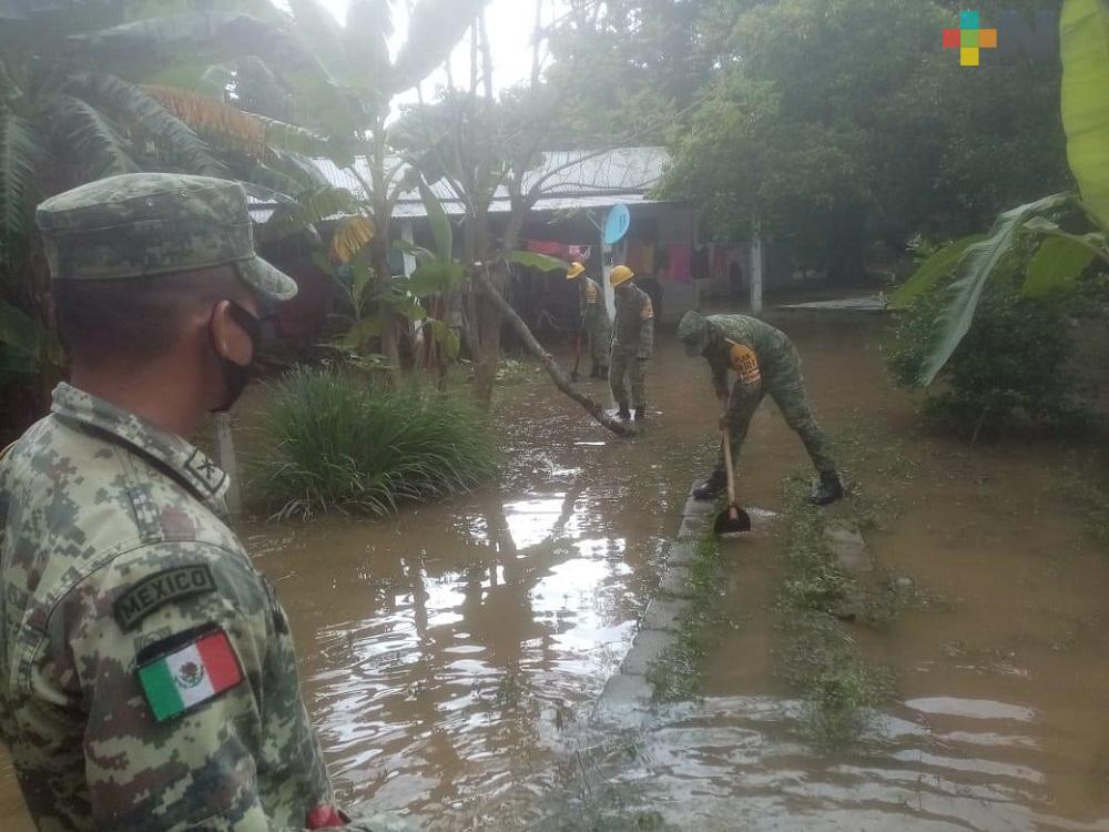Sedena aplica Plan DN-III-E en su fase de auxilio en municipio de Jesús Carranza