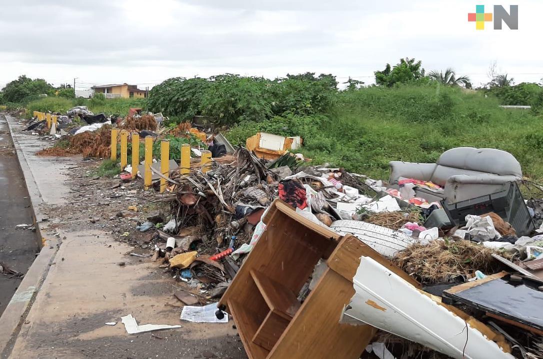 Reportan un tiradero a cielo abierto en colonia Playa Linda de Veracruz