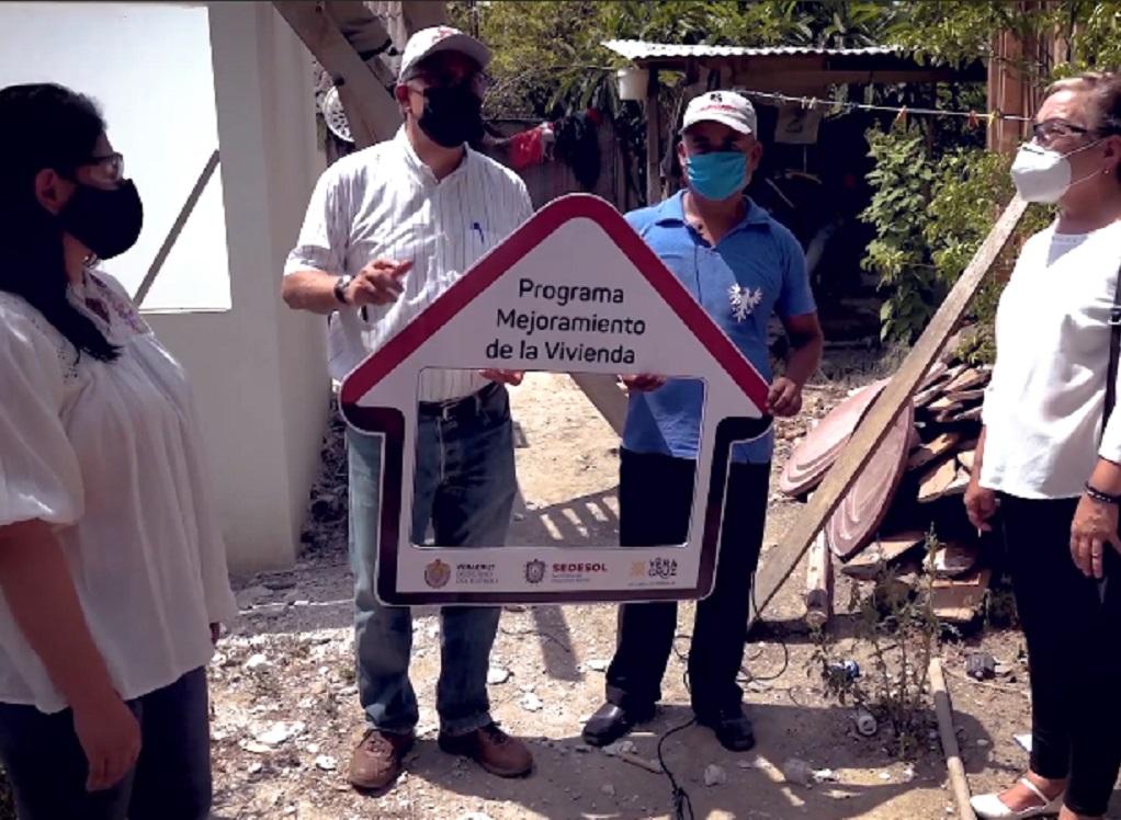 Verifica Sedesol acciones para mejorar viviendas de familias en zonas vulnerables