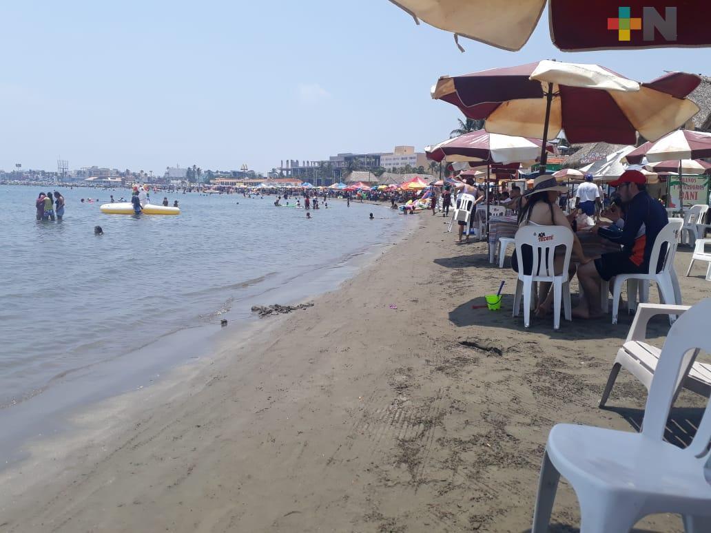 Así lució Playa de Villa del Mar, pese a semáforo rojo