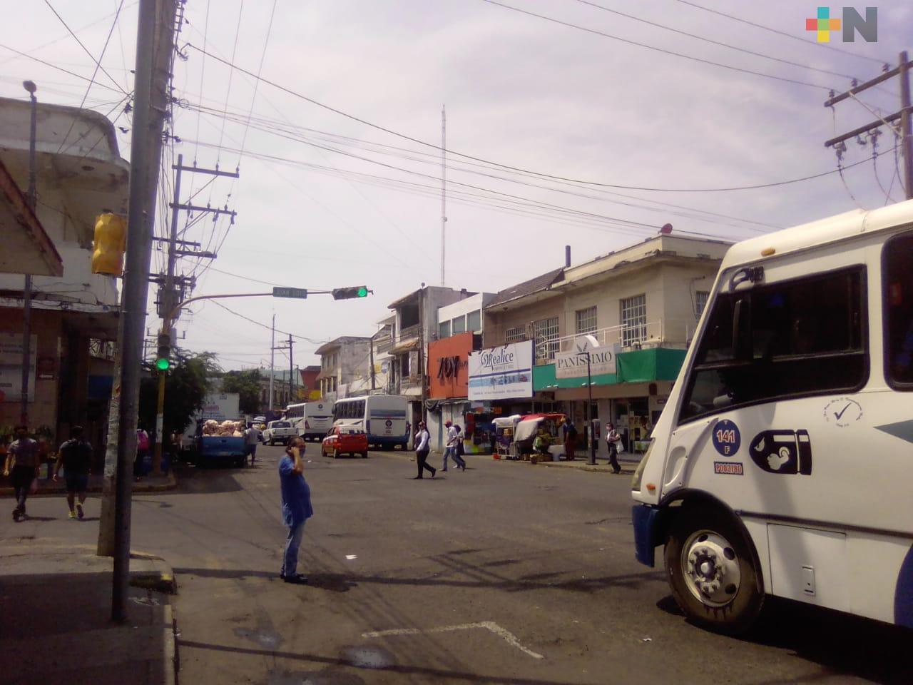 Zona de mercados de Veracruz sí ha reducido la movilidad