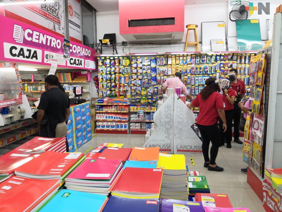Papelerías de la ciudad de Veracruz esperan repunte en sus ventas