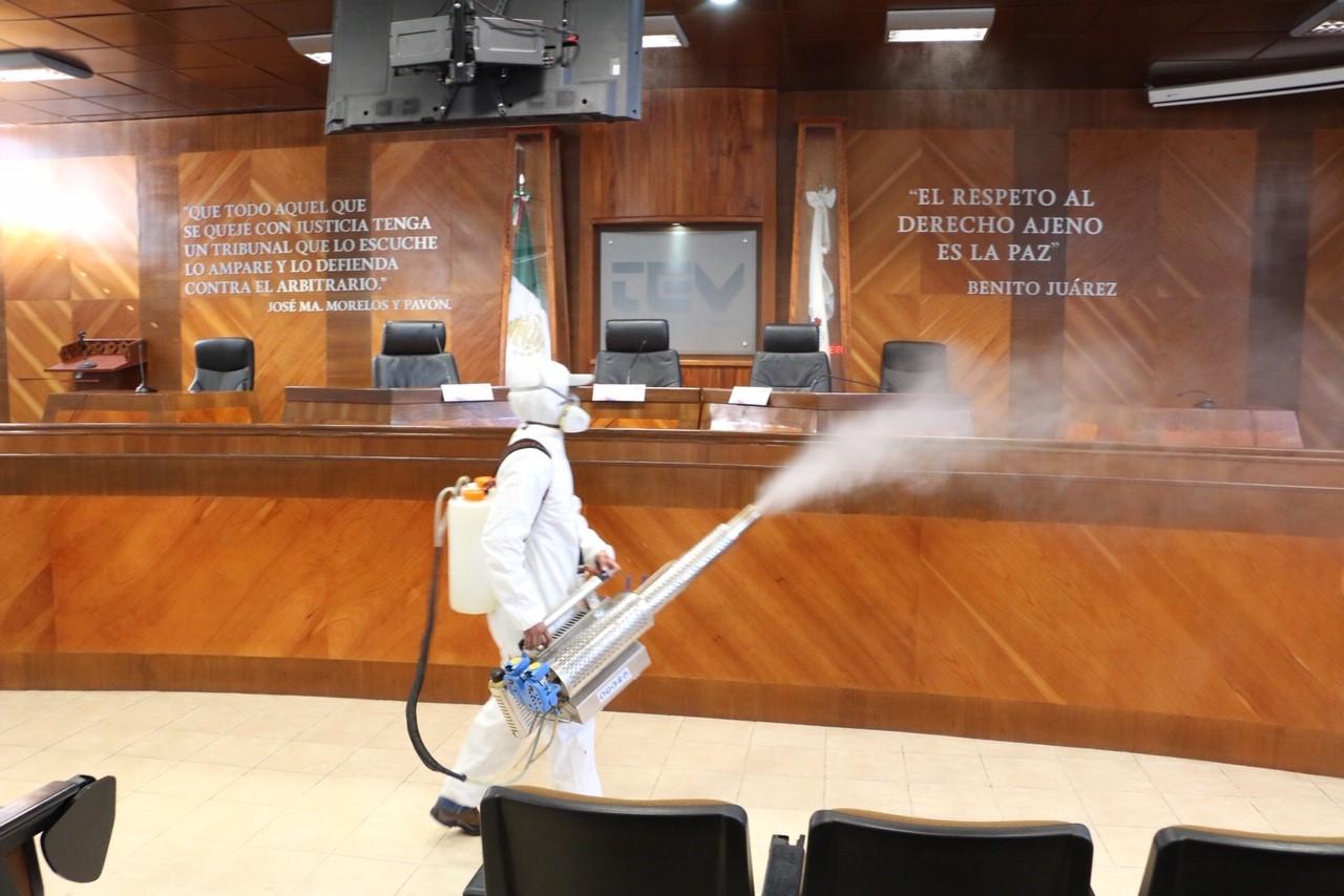 TEV refuerza acciones de sanitización