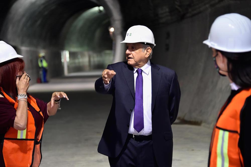Presidente supervisa avances de ampliación de la L12 del Metro; iniciará operaciones en 2023