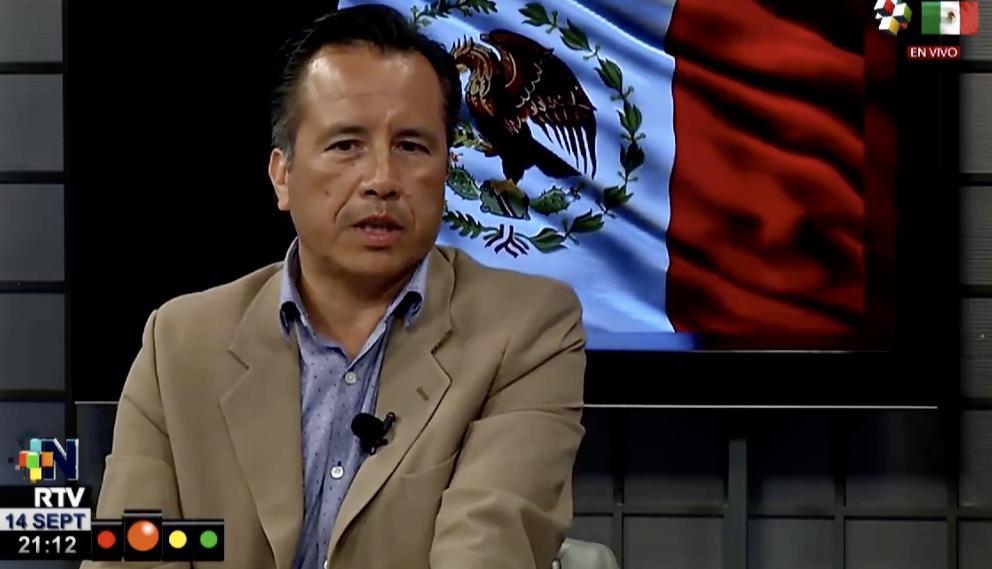 Con pocos funcionarios, el gobernador Cuitláhuac García dará el Grito de Independencia de manera virtual