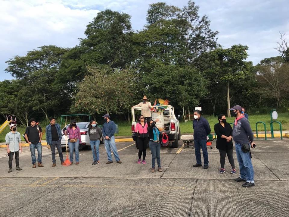 Personal de la Secretaría de Gobierno, realizó labores de embellecimiento en el Parque Natura