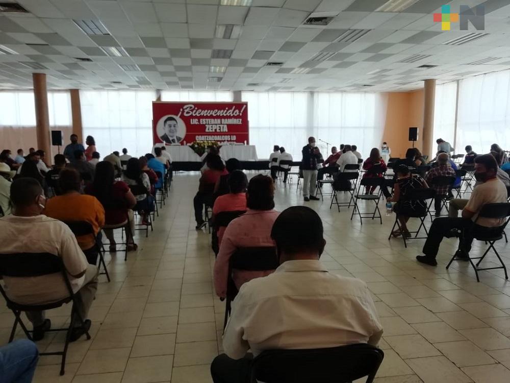 Aspirante al Comité Estatal de Morena, presenta su plataforma de trabajo a militantes del sur de Veracruz