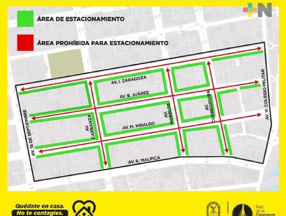 Ayuntamiento de Coatzacoalcos prohíbe estacionamiento de vehículos en algunas calles