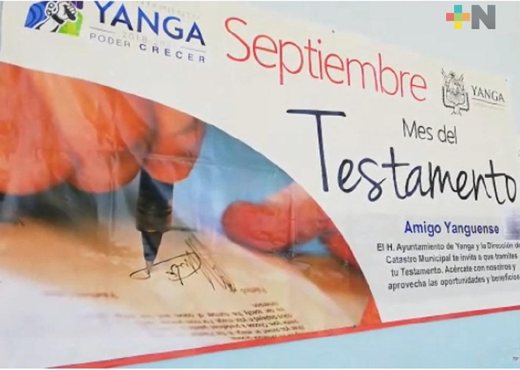 """Ayuntamiento de Yanga pone en marcha campaña anual """"Septiembre, mes del Testamento"""""""