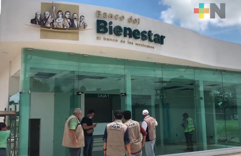 Se consolida construcción de Banco del Bienestar en el municipio de Tierra Blanca