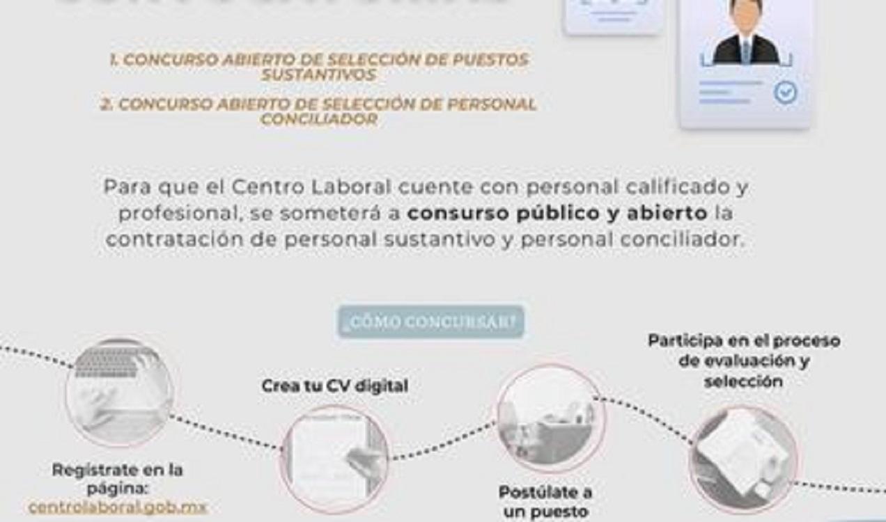 Centro Federal de Conciliación y Registro Laboral publica convocatorias para selección de personal