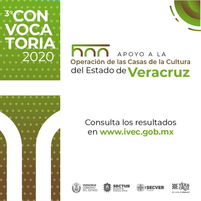 Publica IVEC los resultados de la Tercera Convocatoria de Apoyo a Casas de la Cultura