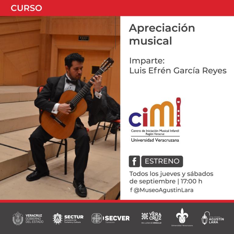La Casa Museo Agustín Lara del IVEC invita a curso de apreciación musical