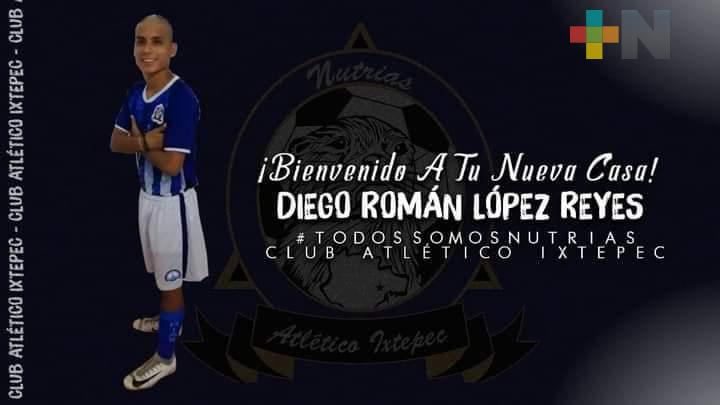 Diego Román jugará tercera división con Atlético Ixtepec