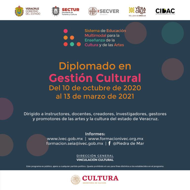 Convoca IVEC a la segunda edición del Diplomado en Gestión Cultural