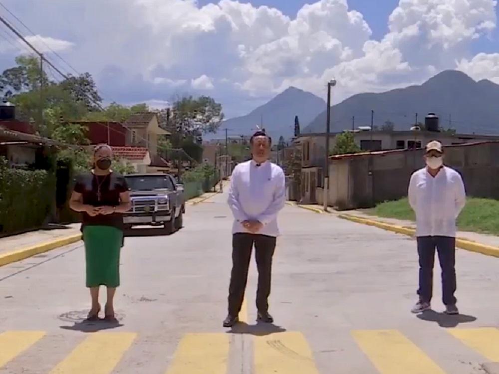 Gobernador Cuitláhuac García Jiménez recorrió las obras que se realizan en municipio de Nogales