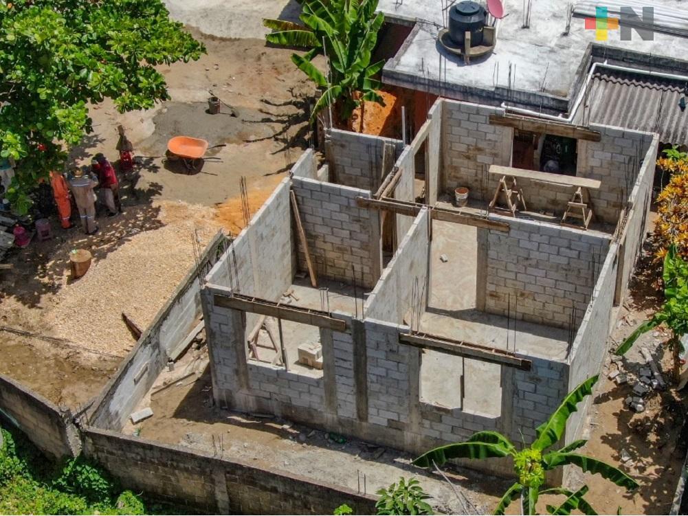 En noviembre quedarán construidas viviendas afectadas por sismos de 2017 y 2018 en Coatzacoalcos