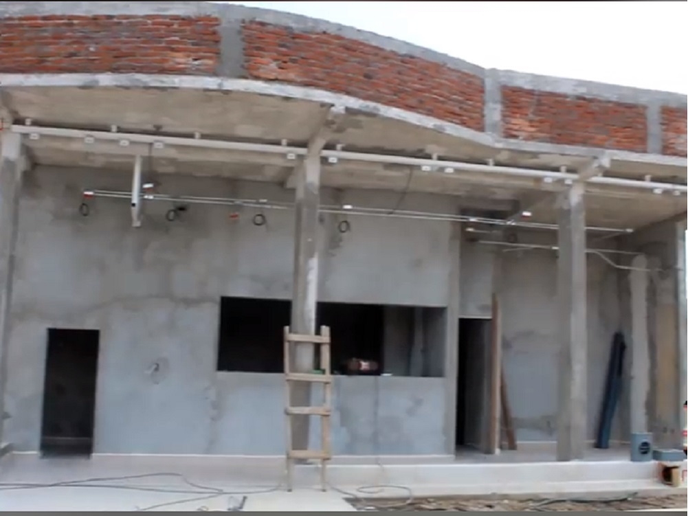 En municipio de Acula, se construye última etapa del Banco del Bienestar