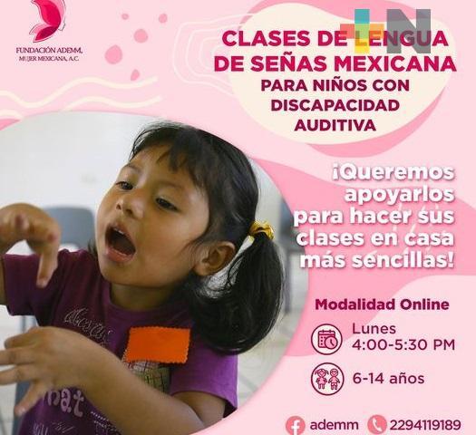 Fundación en Veracruz ofrece talleres gratuitos para la enseñanza de la lengua de señas mexicana