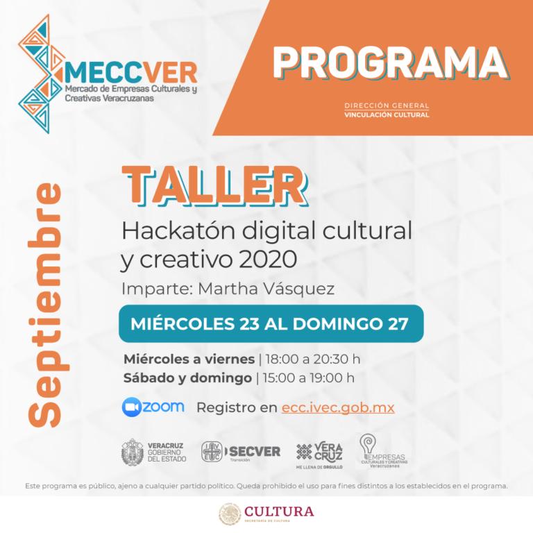 Inicia Hackatón Digital Cultural y Creativo en el marco del MECCVER 2020