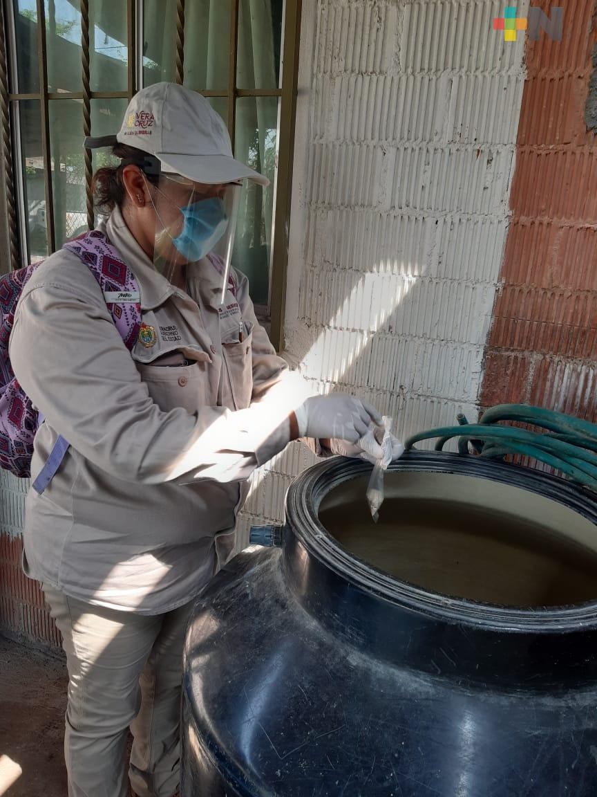 Realiza Secretaría de Salud rociado residual en 4 mil 246 casas para prevenir el dengue