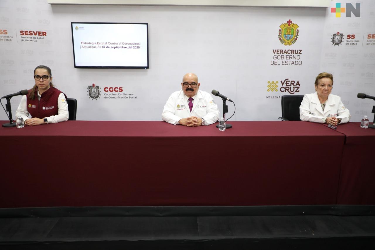 Reporta Salud 188 nuevos casos de COVID-19 en Veracruz