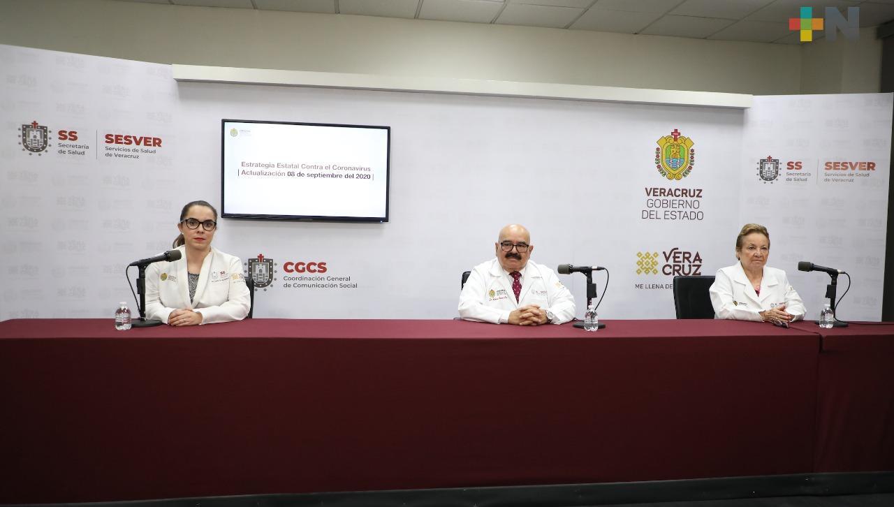 Suman 29 mil 929 los casos positivos a Covid-19 en Veracruz